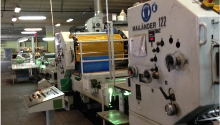KBA Mailander 122 two colour printing line with UV-oven