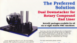 Preffered Dual Downstacker For Rotary Compound End Liner