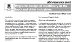 Hygienic design of machinery in the food and drink industries